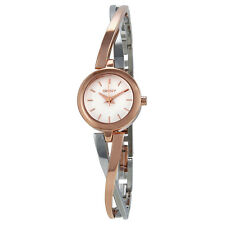 DKNY Crosswalk Silver Dial Two Tone Steel Ladies Watch NY2172