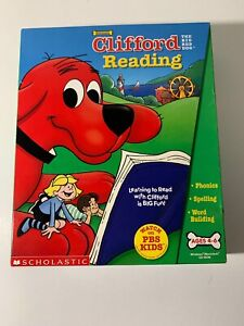 NEW-PC CD ROM CLIFFORD READING - THE BIG RED DOG  2000 PBS Ages 4-6