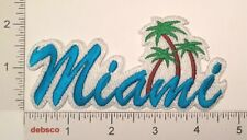 MIAMI Beach Florida Palm Trees Embroidered Travel Souvenir PATCH