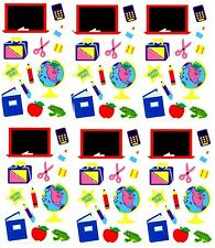 Mrs Grossman's SCHOOL Classroom Globe Blackboard Scrapbook Stickers 3 strips