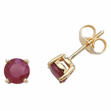Unbranded Stud Ruby Yellow Gold Fine Earrings