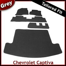 CHEVROLET CAPTIVA 7-Seater 2006 onwards Tailored Carpet Car and Boot Mats GREY