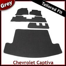 CHEVROLET CAPTIVA 7 posti montato su Misura per AUTO e le stuoie di avvio Grigio