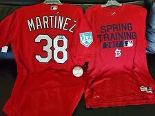 JOSE MARTINEZ GAME WORN/USED JERSEY / SHIRT / SIGNED BASEBALL - CARDINALS - RARE