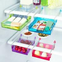 Kitchen Freezer Fridge Drawer Storage Box Rack Holder Slide Shelf Organizer