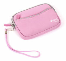Pink Neoprene Compact Camera Case for Canon ELPH 360 HS / ELPH 180 / 190 IS