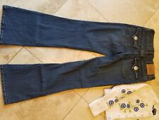 Girls LEVIS rhinestone embellished stretch denim jeans perfect cond Jrs/girls 14