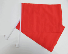 PLAIN RED CAR WINDOW FLAG - 2 PACK NEW