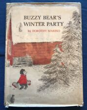 Buzzy Bear's Winter Party Vintage Children's Book 1967 Hardcover First Edition