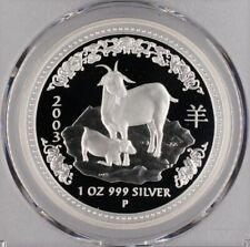 2003 Lunar Year of Goat 1oz Australia Silver Proof Coin - PCGS Graded PR69DCAM
