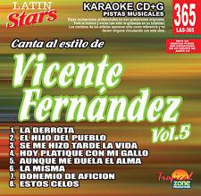 Karaoke Latin Stars 365 Vicente Fernandez Vol.5