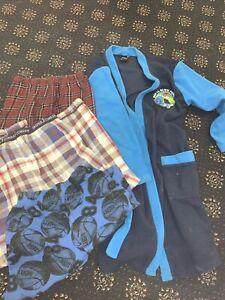 Boys Bundle 3 Pyjama Bottoms, Long Dressing Gown Ben Ten 9-10 Years