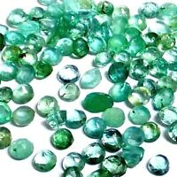 NATURAL ROUND EMERALD GEMSTONE 15 pieces LOOSE UNHEATED