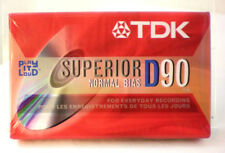 TDK D90 Normal Bias Superior Audio Cassette Blank One Tape New Factory Sealed