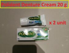 2 unit X POLIDENT DENTURE ADHESIVE CREAM GLUE More Secure More Fit & Comfort 20g