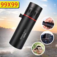 Mini Monocular 99x99 HD Zoom Waterproof Telescope Night Vision With Phone Clip