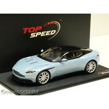 ASTON MARTIN DB11 FROSTED GLASS BLUE TOP SPEED MODEL 1/18 #TS0022