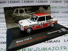 voiture 1/43 IXO Altaya Rallye : SIMCA 1100 S Monte Carlo 1972 Fiorentino