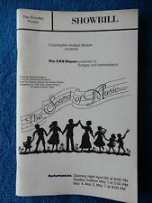 The Sound Of Music - Schafler Forum Theatre Playbill - 1980's - Peter Tulipan