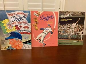 Los Angeles Dodgers 1966, 1967 and 1975 yearbooks