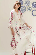 NEW Fillyboo Ballon Rouge Embroidered Duster Maxi Dress Size XS