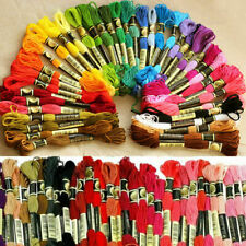 TOP 45x/set Multicolor Cross Stitch Strandeds Cotton Embroidery Thread Floss UK*