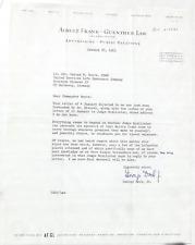 George Dock Jr. Lafayette Flying Corps Fighter Pilot Signed Letter ''Rare''   ..