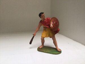 Preiser Elastolin Roman auxiliary Balearic slinger. Plastic toy soldier. 70mm
