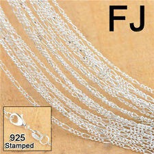 20PC 925 Silver Figaro Necklace Chain Jewelry Making Findings For Pendant 18 ""