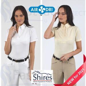 SHOW SHIRT | Shires Aubrion Ladies Short Sleeve Competition Tie Shirt | UK 6-18