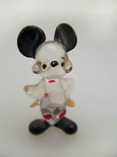 """*Vintage Hand Blown Glass Mickey Mouse Figure Figurine 1 1/2"""""""
