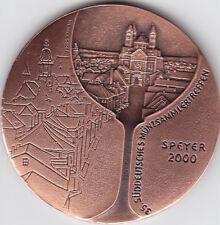 Speyer 35. südd. Münzsammlertreffen 2000 Vinum in Nummis AE-Medaille vorzüglich