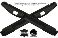 BLACK STICH 2X MID TOP HANDLE TRIM LEATHER COVER FITS LAND ROVER DEFENDER 110 SW