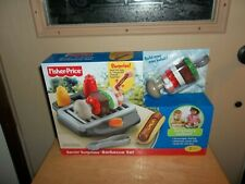 Fisher Price Servin Surprises Barbecue Grill Kitchen & Table Accessory Set BBQ