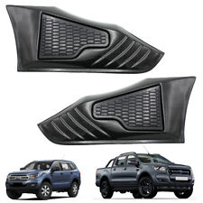 For Ford Ranger T6 Everest Suv 15 16 17 Side Vent Cover Trim Kevlar Black