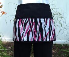 Black & Pink Zebra Animal server waitress waist Half apron 3 pocket restaurant