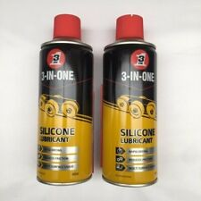 3-In-One Professional Silicone Lubrication Spray 400ml Less Friction 2 Pk 91.007