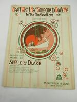 Gee! Wish I Had Someone to Rock Me in The Cradle of Love 1919 Sheet Music