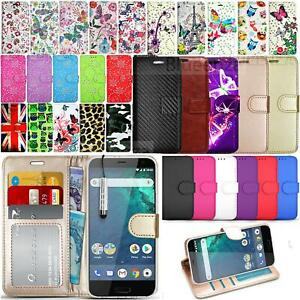 For HTC U12 U11 Life Case Flip Leather Wallet Book Stand View Folio Cover