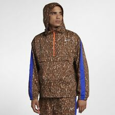 New Mens Nike Repel Anorak Track Running Jacket BQ8185-786 Gold Size L
