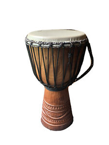 African djembe drum & carry bag.