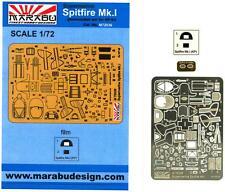 Marabu Models 1/72 SUPERMARINE SPITFIRE Mk.I Photo Etch Detail Set