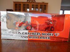 Ertl 1/43 Allis Chalmers C Tractor Roto Baler Set  AGCO 1997 Farm Show Edition