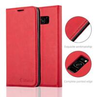 Anti-Radiation RFID Samsung Wallet Case (Red, Samsung Galaxy S9)