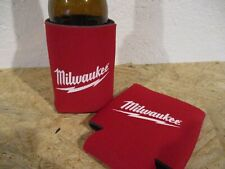 2 Milwaukee LABELED Power Tool Coozies Coozie Beer Holder Cool Drink Cup Koozie