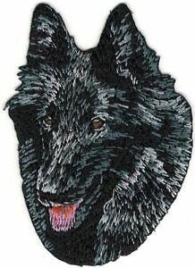 "2"" x 2 7/8"" Groenendael Head Portrait Dog Breed Embroidery Patch"