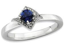 Лаборатория создала синий сапфир кольцо из чистого серебра