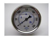 New Stainless Steel Liquid Filled Pressure Gauge WOG Water Oil Gas 0 to 300 P...