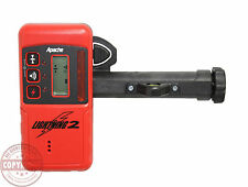 APACHE LIGHTNING 2 LASER RECEIVER DETECTOR,SPECTRA,TOPCON,RUGBY,TRIMBLE