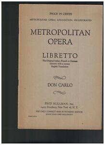 Metropolitan Opera Libretto Lot of 15 Werthers Don Pasquale Wozzeck Don Carlo